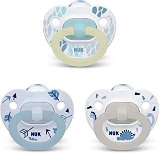 NUK Orthodontic Pacifier Value Pack, Boy, 0-6 Months, 3-Pack