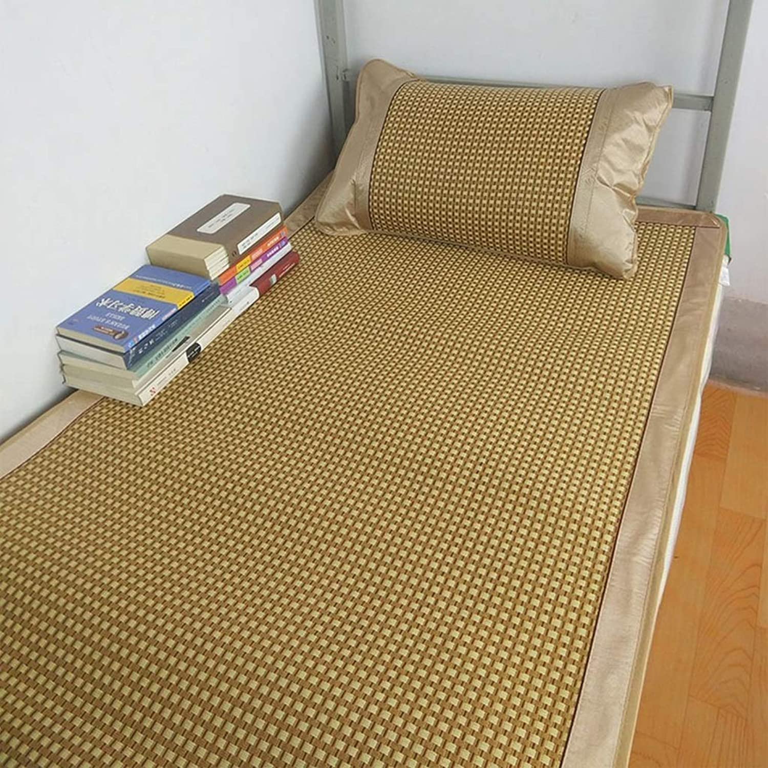 I will take action now Mattress Rattan Grass Sleeping mat Summer Foldable Smooth Soft Breathable Individual Student Dormitory Double Summer Mattress I will take action now (Size   90X190cm)
