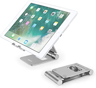 Tablet Stand Adjustable, YOSHINE Phone Stand for Desk, Portable Tablet Holder, Universal Aluminum Stand Dock Compatible fo...