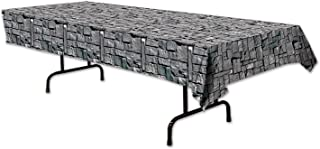 """Beistle 54535 Stone Wall Tablecover, 54"""" x 108""""(4.5ft x 9ft)"""