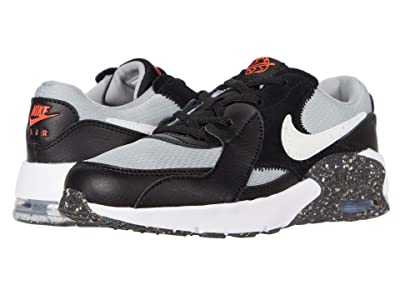 Nike Kids Air Max Excee MTF (Little Kid) (Black/White/Light Smoke Grey/Bright Crimson) Kid