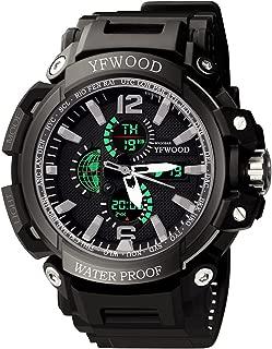 Men's Military Watch, Sport Watch, Analog Quartz Waterproof Multifunctional Military Wrist Watch with LED Backlight Alarm Stopwatch