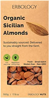 Organic Almonds 17.6 oz - Fresh - Raw - Unpasteurized - Small Batch - Sustainably Sourced - Straight from the Farm - Non-GMO