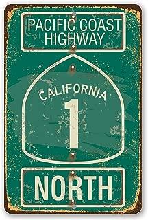 Metal Sign - Pacific Coast Highway Metal Sign - Durable Metal Sign - 8