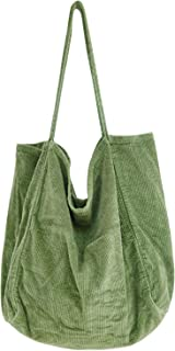 BestTas CordTasche für Damen mit großer Kapazität, Umhängetasche für Frauen, einfache Handtaschen-Einkaufstasche für den E...