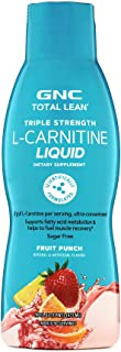GNC Total Lean Triple Stength L-Carnitine Liquid, Fruit Punch, 16 fl. oz., Supports Muscle Recovery