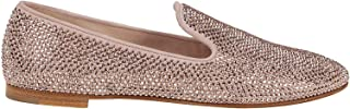 Luxury Fashion | Giuseppe Zanotti Design Women I960000011 Pink Suede Loafers | Spring-summer 20