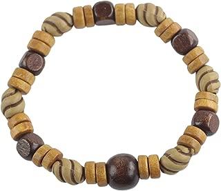 NOVICA Wood Beaded Bracelet, 7