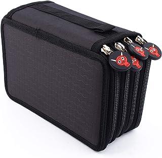Yosoo Health Gear Stationary Pencil Bag, 72 Count Slot Colored Pencil Carry Case Multiple Layer Pencil Pen Bag Pouch Cosme...