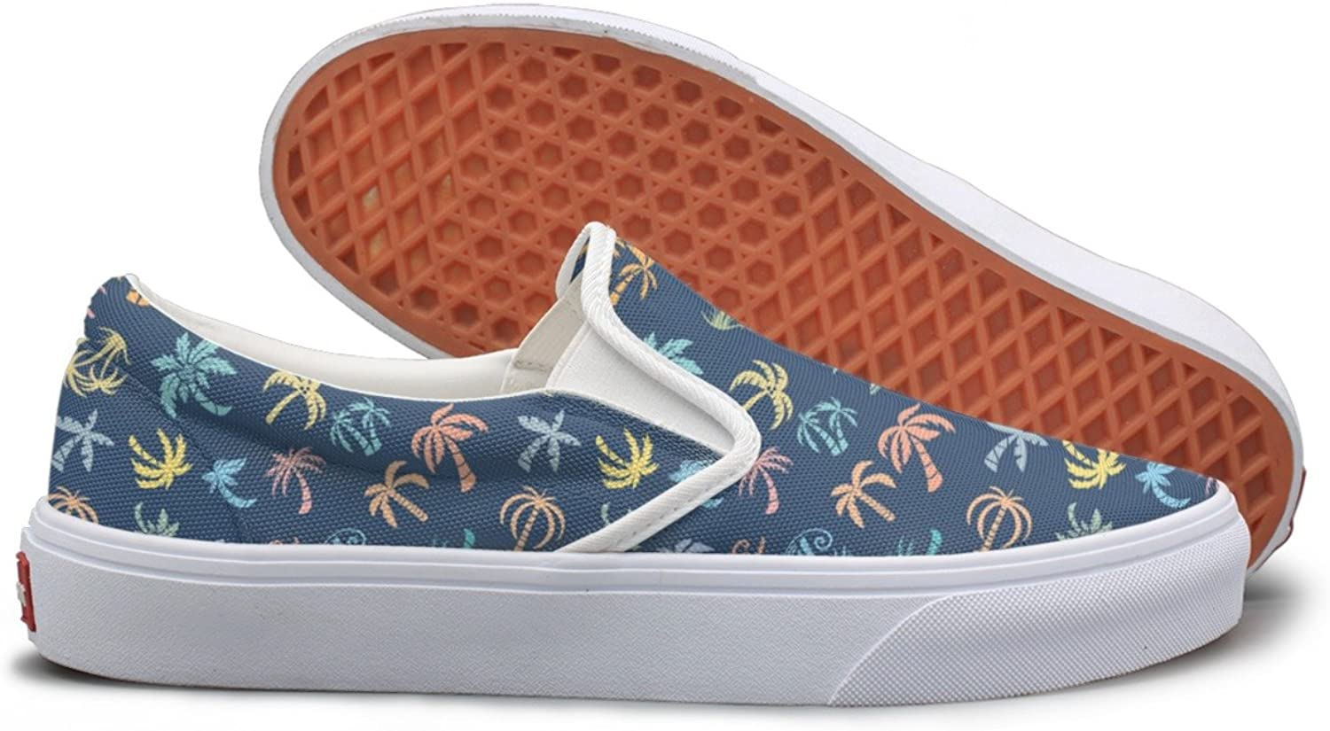 Palms Pattern Vector Image Comfortable Sneakers For Women Wide Width