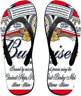 Bu-Dweiser Beer Logo Pantoufles Tongs Antidérapantes Pour Hommes