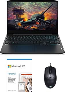 "Lenovo IdeaPad Gaming3 AMD Ryzen 5 15.6"" Full HD IPS Gaming Laptop(8GB/512GB SSD/Win10/NVIDIA GTX1650 4GB GDDR6/Onyx Blac..."