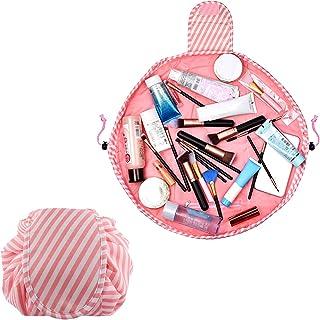 ALLYAOFAO Lazy Drawstring Makeup Bag, Travel Cosmetic Bag Large Capacity Drawstring Makeup Bag Lazy Cosmetic Bag Beam Mout...