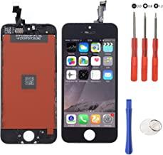 Touch Screen Digitizer Assembly Replacement for iPhone 5S Black Glass LCD Display Free Repair Tool Kits & Screen Protector Film