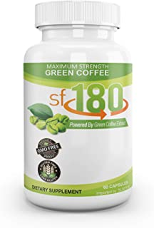Premium sf180 Green Coffee - Maximum Strength Powered by Pure Green Coffee Bean Extract - Stress-Free Dieting Solution for...