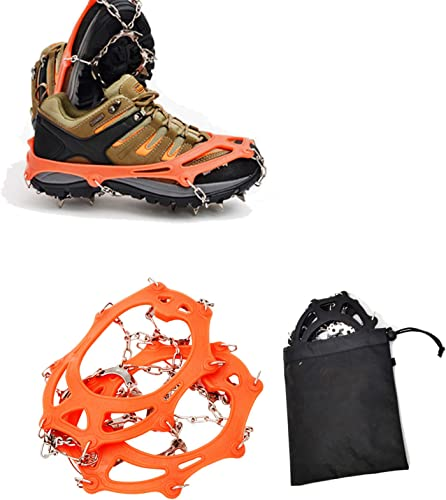 new arrival OPTIMISTIC Ice Cleats Traction 13 Spikes discount Crampons for Hiking Boots Shoe Ice and Snow Grips Anti-Slip Steel sale Spikes for Men and Women Hiking Walking Climbing Jogging Fishing online sale