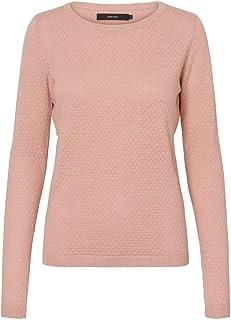 VERO MODA Vmcare Structure Ls O-neck Blouse Noos - Suéter para mujer