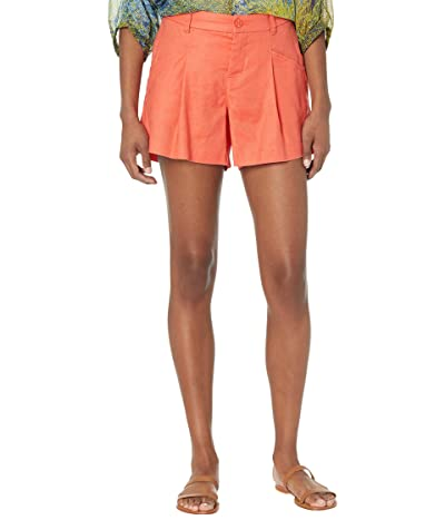 Liverpool High-Rise Trouser Shorts in Hot Coral Women