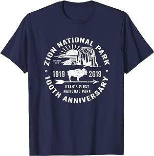 Zion National Park Centennial 100 Year Celebration Souvenir T-Shirt