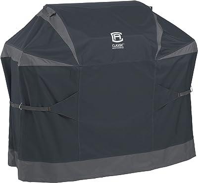 Classic Accessories 56-277-031001-EC StormPro Waterproof 58 Inch BBQ Grill Cover,Dark Gray,Medium