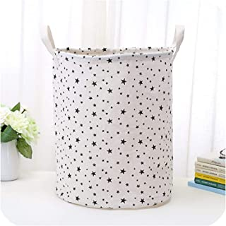 New Folding Hand held Dirty Clothes Laundry Basket Cotton Linen Waterproof Sundries Storage Bucket Children Toys Storage Box,02