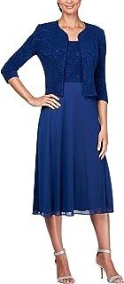 afa426dc3699 Alex Evenings Women's Tea Length Blazer Jacket Dress (Petite and Regular  Sizes)