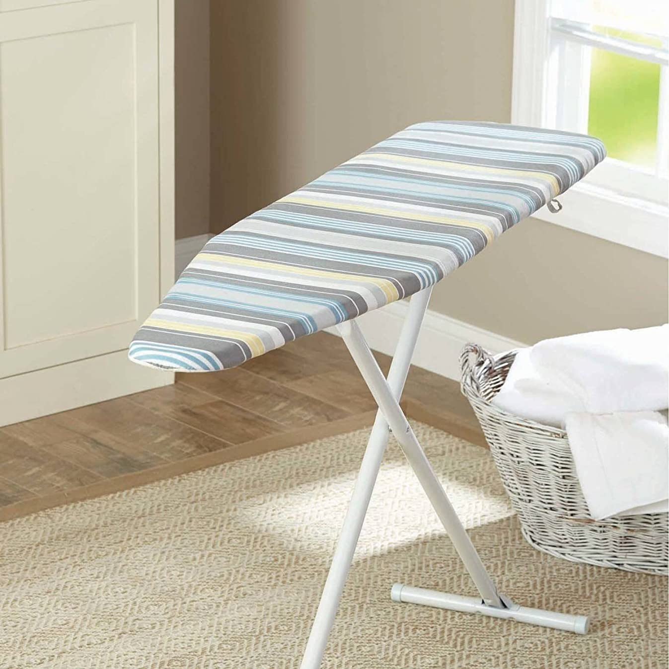 Reversible Ironing Board Pad and Cover, Casual Stripe