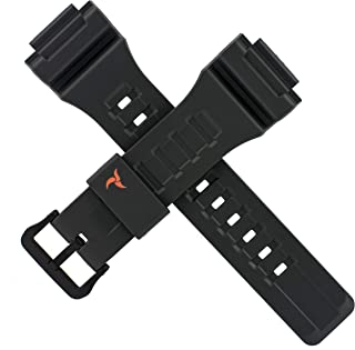Casio 10462712 Bracelet de montre pour STL-S100H STL S100H Noir/rouge