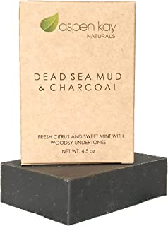 Dead Sea Mud Soap Bar Natural & Organic Ingredients. With Activated Charcoal & Therapeutic Grade Essential Oils. Face Soap...