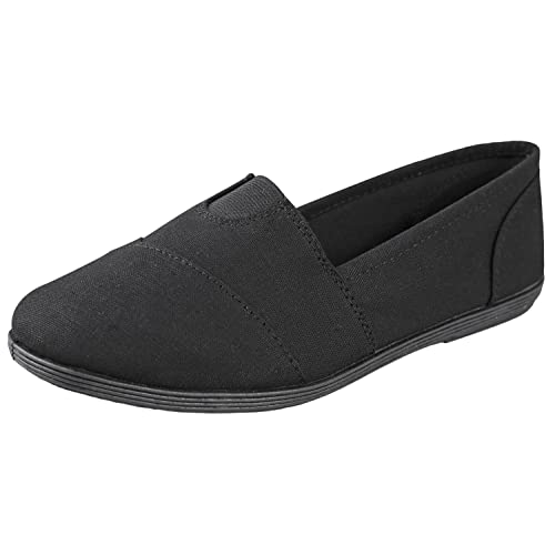 NEW Girl/'s Youth SODA OBJECT Black Slip On  Loafers Fashion Casual//Dress Shoes