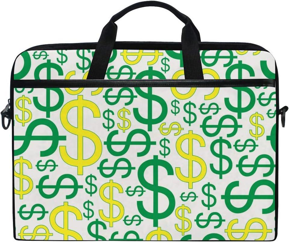 OFFicial AGONA Dollar Sign Abstract Laptop Sacramento Mall Shoulder 15 Bag inch Messenger