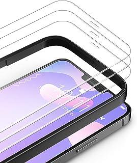 TAMOWA Skärmskydd för iPhone 12 Mini, 3-pack, premium härdat glasfilm 9H hårdhet skottsäkert skärmskydd med installationsr...