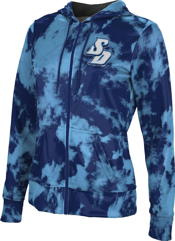 University of San Diego Girls' Zipper Hoodie, School Spirit Sweatshirt (Grunge)