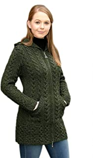 irish sweater jacket green