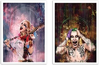 WALL EDITIONS 2 Art-Posters 30 x 40 cm - Duo Harley Quinn and Joker - Wisesnail