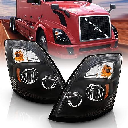 -Chrome 6 inch Passenger side WITH install kit 100W Halogen 2014 Volvo VNX DAYCAB-POST Post mount spotlight