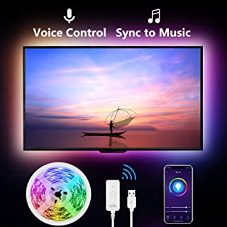 Led Strip Lights for TV,9.2Ft TV Led Backlight for 32-60 inch.Works with Alexa Google Home,Sync with Music,Gosund App Control, 16 Million Colors,Brighter 5050 LED,USB Powered,No Remote,Only 2.4Ghz
