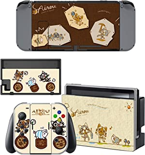 Decal Moments Nintendo Switch Console Vinyl Skin Decal Stickers for Nintendo Switch Dock Joy Con Skin Anime Hunter