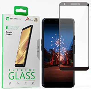 Amazing Thing Google Pixel 3a Full Cover Glass Screen Protector - Tempered Supreme Glass 2.5D