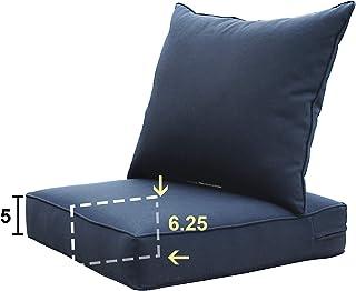 Chair Pad Chair Cushion 24x19.5x3 Sunbrella Gateway Mist Dining Seat Cushion with ties Sunbrella Cushion Seat Pad