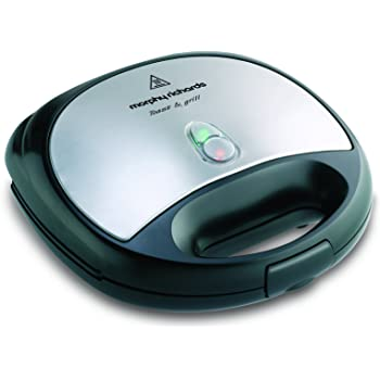 Morphy Richards SM3006 Toast and Grill Sandwich Maker (Silver and Black)