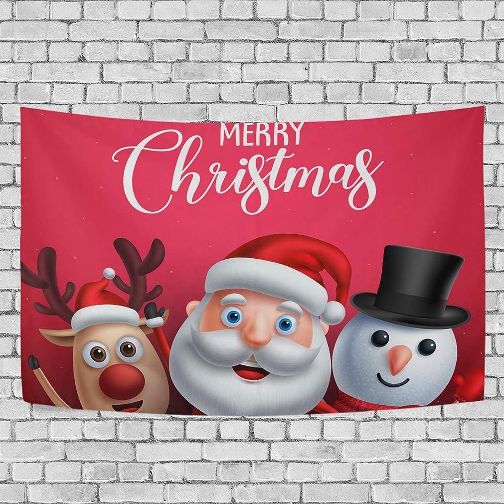 醜い精巧な旅行(VAWA) タペストリー 壁掛け おしゃれ アニメ クリスマス サンタクロース柄 雪だるま柄 鹿柄 赤 クリスマス飾り 装飾布 ハロウィンデコレーション インテリア 部屋 窓 大型 プレゼント 203x152cm