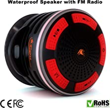 Waterproof Bluetooth Speaker & Shower Radio - Play Music Anywhere - with Water Proof FM Radio - Pairs to All Bluetooth Devices - Portable & Wireless - Great for Bath, Beach, Car & Outdoor