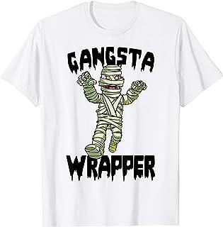 Gangsta Wrapper Tee Shirt Womens Funny Zombie Halloween T-Shirt