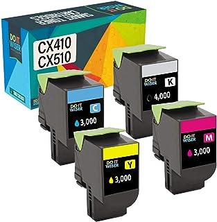 Best Do it Wiser Compatible Toner Cartridge Replacement for Lexmark High Yield CX410de CX510de CX410dte CX410e CX510dthe CX510dhe - 80C1HK0 80C1HC0 80C1HM0 80C1HY0-4 Pack Review