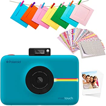 Zink Polaroid SNAP Touch 2.0 – 13MP Portable Instant Print Digital Photo Camera w/ Built-In Touchscreen Display, Blue