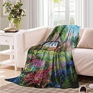 Oncegod Family Blanket Rustic Artistic Stone House Garden Bedding Throw, or Blanket Sheet 60