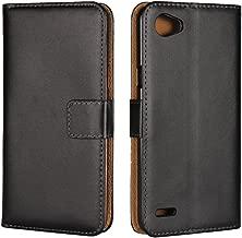 LG Q6 Case,iCoverCase Premium Leather Case [Kickstand & Magnetic Closure] [Card Slot] Shockproof Folio Flip Wallet Leather Case [Slim Fit] for LG Q6 5.5''-Black