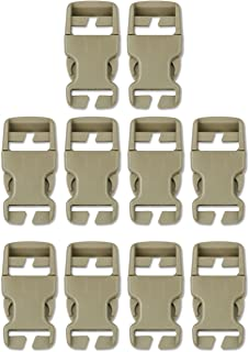 DYZD Multi-Size Plastic Buckle Repair Kit Quick Release Buckles No Sewing Required Buckles for Backpack Bag (10pcs Khaki,25 mm)