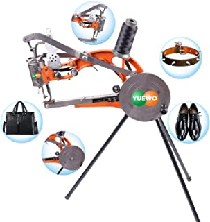 YUEWO DIY Shoe Repair Machine Manual Shoe Mending Sewing Machine Cobbler Shoe Repair Machine Cotton Nylon Line Sewing Machine (Orange Machine)
